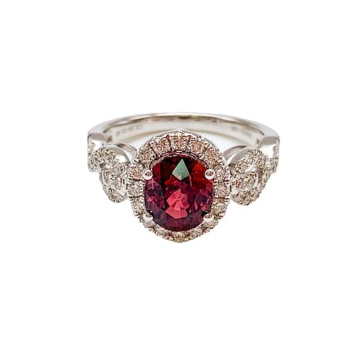 Jewelry store on Ocean Avenue. Ruby & Diamond Ring Carmel by the Sea. Custom jewelry and bespoke jewelry Monterey CA