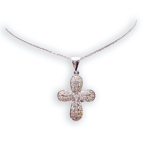 Diamond Pave Set Cross Pendant